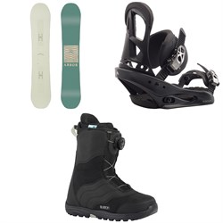 Arbor Poparazzi Rocker Snowboard  + Burton Stiletto Snowboard Bindings -  + Burton Mint Boa Snowboard Boots - Women's 2018