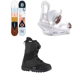 Burton Yeasayer Snowboard  + Stiletto Snowboard Bindings  + Mint Boa Snowboard Boots - Women's 2018