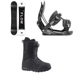 Flow Merc Snowboard 2018 + Flow Alpha Snowboard Bindings  + Burton Moto Boa Snowboard Boots 2018