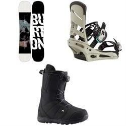 Burton Instigator Snowboard + Mission Snowboard Bindings + Moto Boa Snowboard Boots 2021