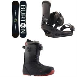 Burton Instigator Snowboard  + Custom Snowboard Bindings  + Ruler Boa Snowboard Boots 2019