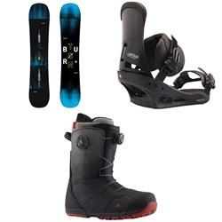 Burton Instigator Snowboard 2019 + Custom Snowboard Bindings  + Ruler Boa Snowboard Boots 2019