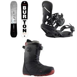 Burton Process Flying V Snowboard  + Mission EST Snowboard Bindings  + Ruler Boa Snowboard Boots 2019