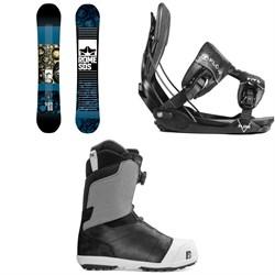 Rome Reverb Rocker SE Snowboard 2019 + Flow Five Fusion Snowboard Bindings 2019 + Nidecker Aero Boa Coiler Snowboard Boots