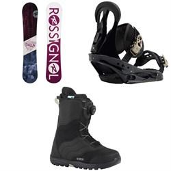 Rossignol Gala Snowboard  + Burton Citizen Snowboard Bindings 2019 + Burton Mint Boa Snowboard Boots - Women's 2018