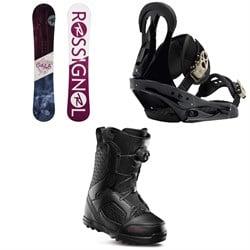 Rossignol Gala Snowboard 2020 + Burton Citizen Snowboard Bindings 2019 + thirtytwo STW Boa Snowboard Boots - Women's 2020