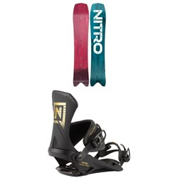 Nitro Squash Snowboard + Team Pro Snowboard Bindings 2021