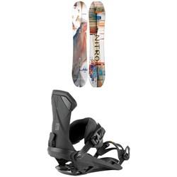 Nitro Santoku Snowboard + Team Snowboard Bindings 2021