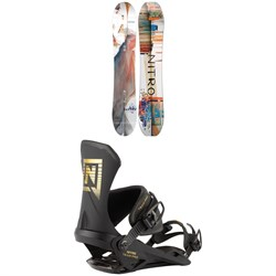 Nitro Santoku Snowboard 2021 + Nitro Team Pro Snowboard Bindings 2021