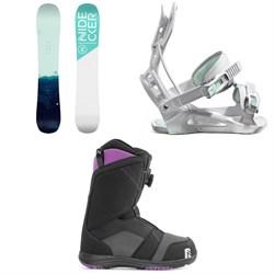 Nidecker Elle Snowboard + Flow Juno Snowboard Bindings + Nidecker Maya Boa Snowboard Boots - Women's 2021