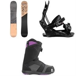 Nidecker Angel Snowboard + Flow Juno Snowboard Bindings + Nidecker Maya Boa Snowboard Boots - Women's 2021