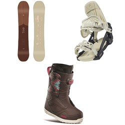 Arbor Ethos Snowboard ​+ Arbor Acacia Snowboard Bindings ​+ thirtytwo STW Boa Snowboard Boots - Women's 2021