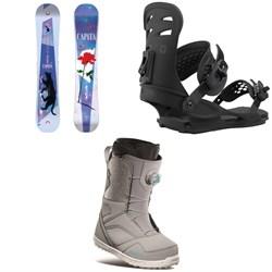 CAPiTA Space Metal Fantasy Snowboard + Union Rosa Snowboard Bindings + thirtytwo STW Boa Snowboard Boots - Women's 2021