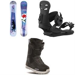 CAPiTA Space Metal Fantasy Snowboard + Union Rosa Snowboard Bindings + thirtytwo Shifty Boa Snowboard Boots - Women's 2021