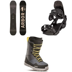 Arbor Foundation Snowboard + Arbor Spruce Snowboard Bindings + thirtytwo Shifty Snowboard Boots 2021