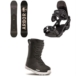 Arbor Foundation Snowboard ​+ Arbor Spruce Snowboard Bindings ​+ thirtytwo Shifty Snowboard Boots 2021