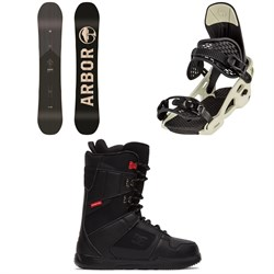 Arbor Foundation Snowboard + Arbor Spruce Snowboard Bindings + DC Phase Snowboard Boots 2021