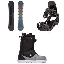 Arbor Formula Rocker Snowboard ​+ Arbor Spruce Snowboard Bindings ​+ DC Scout Boa Snowboard Boots 2021
