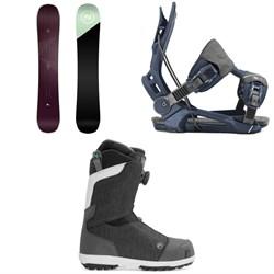 Nidecker Venus Snowboard + Flow Mayon Snowboard Bindings + Nidecker Onyx Boa Coil Snowboard Boots - Women's
