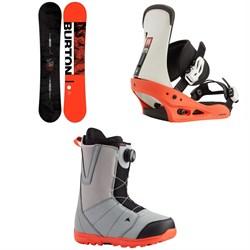 Burton Ripcord Snowboard + Freestyle Snowboard Bindings + Moto Boa Snowboard Boots 2021
