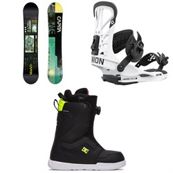 CAPiTA Outerspace Living Snowboard + Union Flite Pro Snowboard Bindings + DC Scout Boa Snowboard Boots 2021