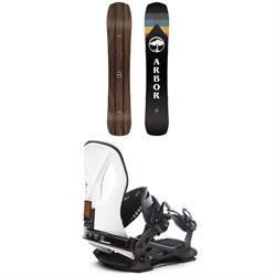 Arbor A-Frame Snowboard + Cypress LTD Snowboard Bindings