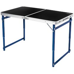 Mountain Summit Gear Heavy Duty Quad Adjustable Height Folding Table