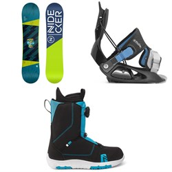 Nidecker Micron Magic Snowboard ​+ Flow Micron Snowboard Bindings ​+ Nidecker Micron Boa Snowboard Boots - Kids' 2021