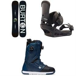 Burton Instigator Snowboard + Custom Snowboard Bindings + DC Control Boa Snowboard Boots