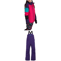 Burton Hart Jacket - Girls' ​+ Skylar Bibs - Kids'