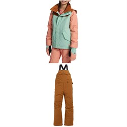 Burton Elodie Jacket - Girls' ​+ Skylar Bibs - Kids'