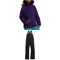 Burton Bennett Jacket - Girls' ​+ Skylar Bibs - Kids'