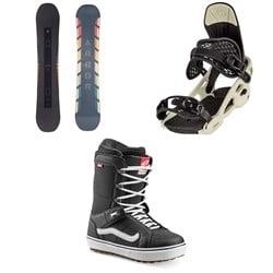 Arbor Formula Camber Snowboard + Spruce Snowboard Bindings + Vans Hi Standard OG Snowboard Boots 2021