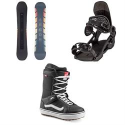 Arbor Formula Rocker Snowboard + Spruce Snowboard Bindings + Vans Hi Standard OG Snowboard Boots 2021