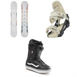 Arbor Poparazzi Rocker Snowboard + Acacia Snowboard Bindings + Vans Encore OG Snowboard Boots - Women's 2021