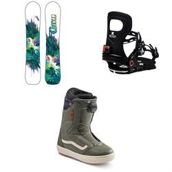 GNU Chromatic BTX Snowboard + Bent Metal Metta Snowboard Bindings + Vans Encore OG Snowboard Boots - Women's 2021