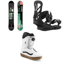 CAPiTA Outerspace Living Snowboard ​+ Union Flite Pro Snowboard Bindings ​+ Vans Aura OG Snowboard Boots 2021