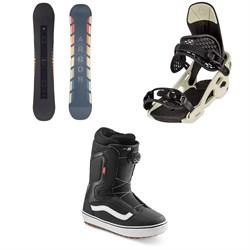 Arbor Formula Rocker Snowboard + Spruce Snowboard Bindings + Vans Aura OG Snowboard Boots 2021