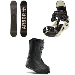 Arbor Foundation Snowboard ​+ Spruce Snowboard Bindings ​+ thirtytwo STW Boa Snowboard Boots 2021