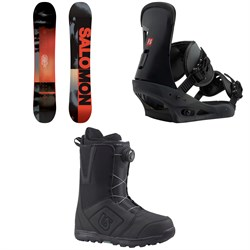 Salomon Pulse Snowboard  + Burton Freestyle Snowboard Bindings 2019 + Moto Boa Snowboard Boots 2018