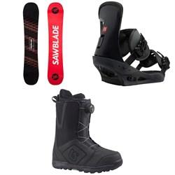 Rossignol Sawblade Snowboard  + Burton Freestyle Snowboard Bindings 2019 + Moto Boa Snowboard Boots 2018