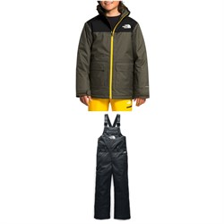 The North Face Freedom Insulated Jacket - Boys' + Freedom Insulated Bibs - Big Kids'