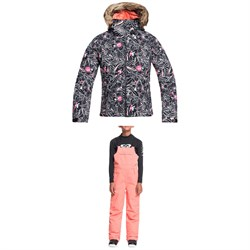 Roxy American Pie Jacket ​+ Non Stop Bib Pants - Girls'