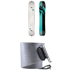 Jones Solution Splitboard - Women's 2021 + Nomad Pro Quick Tension Tail Clip Splitboard Skins