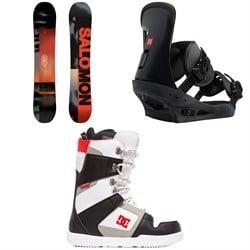 Salomon Pulse Snowboard  + Burton Freestyle Snowboard Bindings 2019 + DC Phase Snowboard Boots