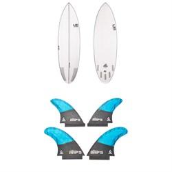 Lib Tech Nude Bowl Surfboard + Quad Fin Set