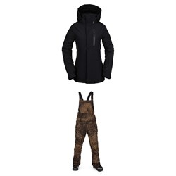 Volcom Eva Insulated GORE-TEX Jacket + Elm GORE-TEX Bib Overalls - Women's