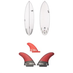 Lib Tech Nude Bowl Surfboard ​+ Twin ​+ Trailer Fin Set