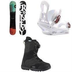 Rossignol Frenemy Snowboard  + Burton Stiletto Snowboard Bindings  + Mint Boa Snowboard Boots - Women's 2018