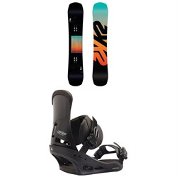K2 Afterblack Snowboard + Burton Custom Snowboard Bindings